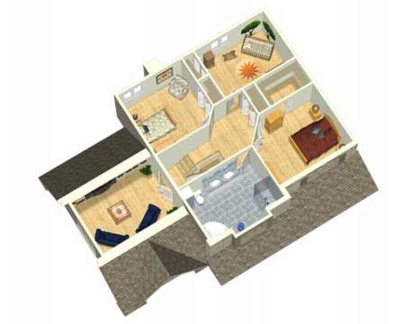 Traditional Two Story House Plan 80431PM Architectural