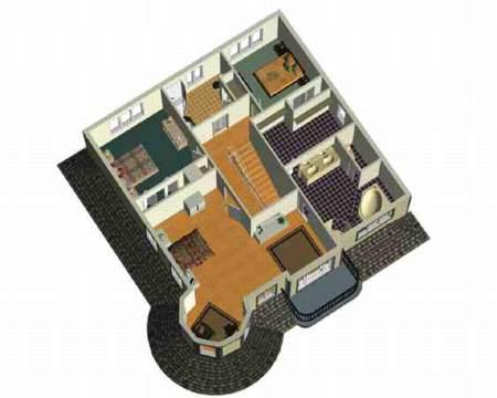 Queen Anne Revival with Turret - 80449PM floor plan - 2nd Floor