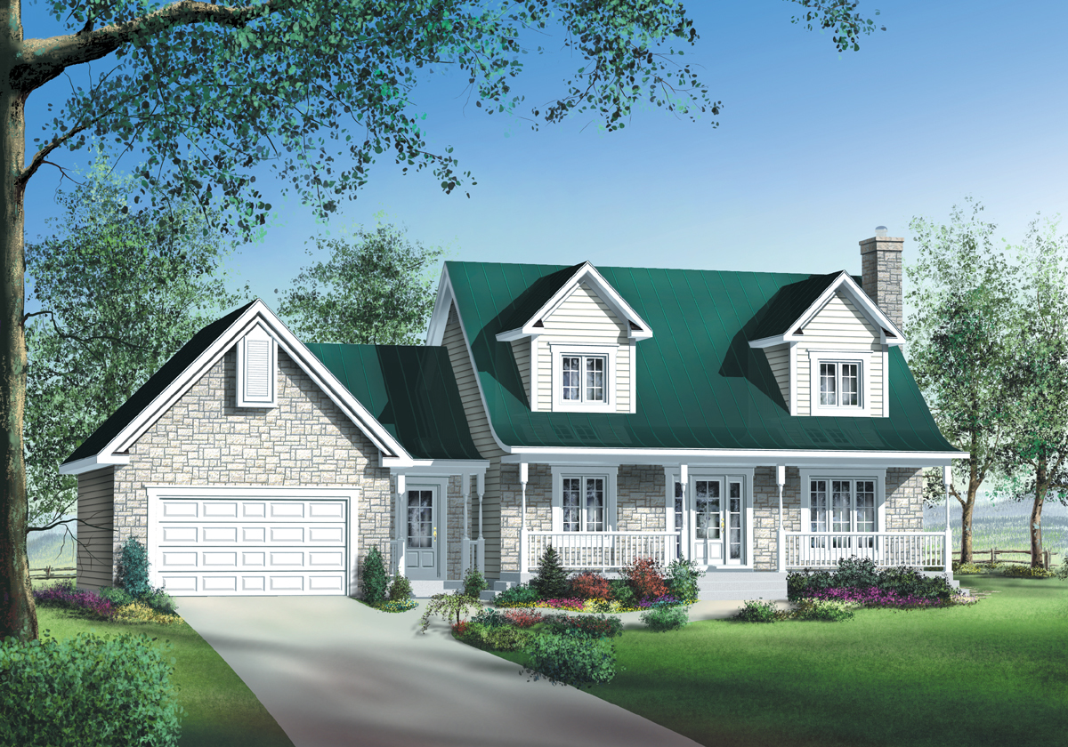 Stone brick or siding house plan 80470pm for Siding house plans