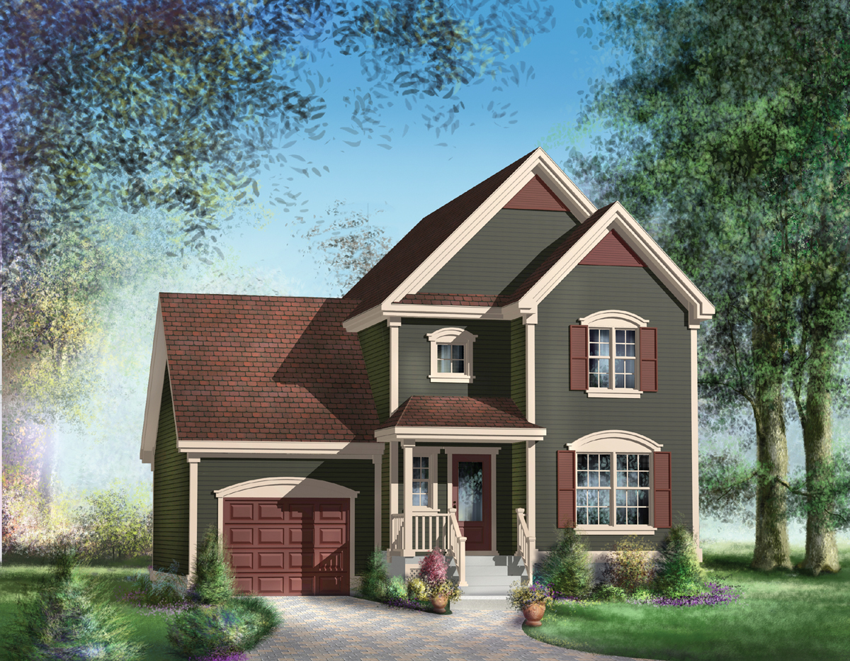 Traditional Two Story House Plan 80535PM