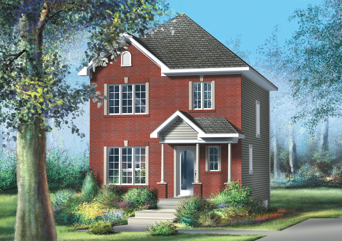 Traditional two story 80542pm architectural designs for Traditional 2 story house
