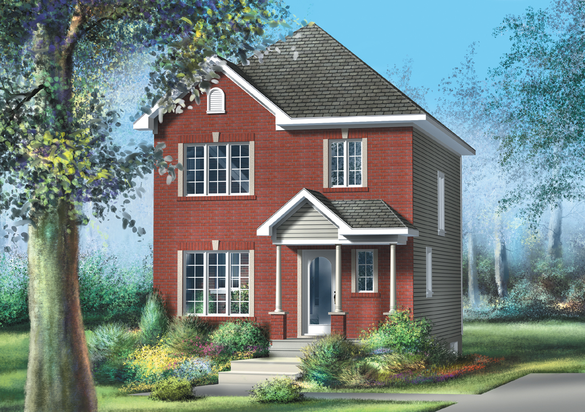 Traditional Two Story 80542pm Architectural Designs