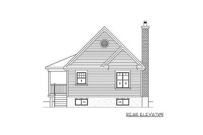 Simple One Bedroom Cottage 80555PM Architectural
