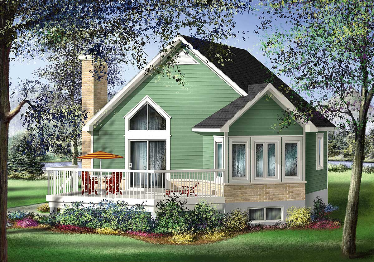 Design For Small House: Quaint Cottage Escape - 80556PM