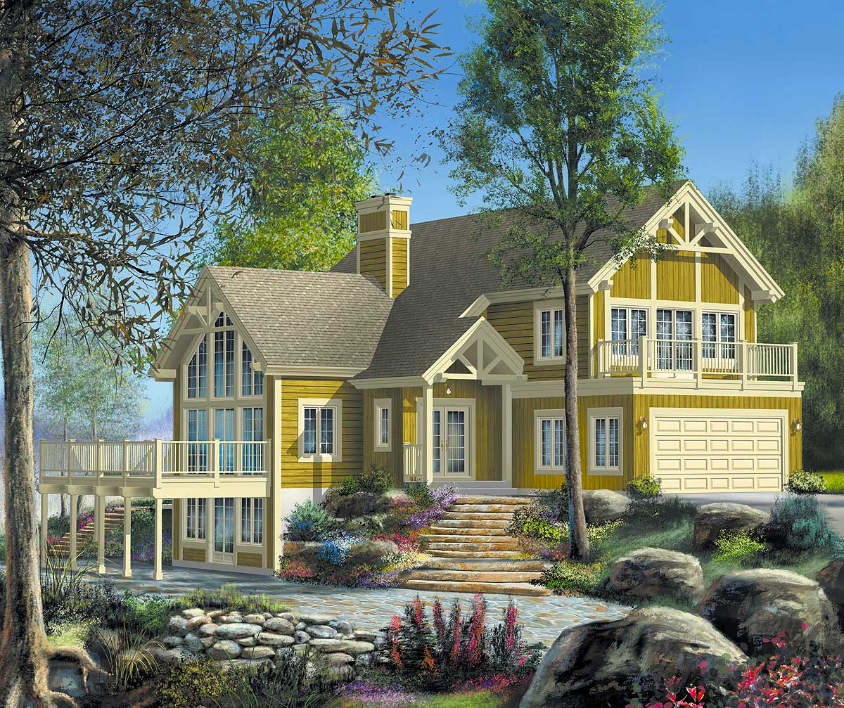 Unique vacation home plan 80558pm architectural for Vacation home plans