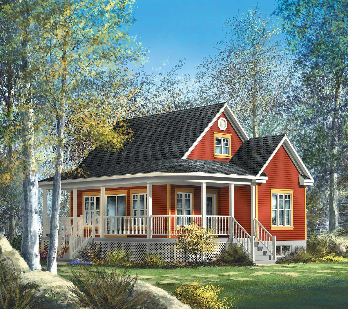 Cute country cottage 80559pm 2nd floor master suite for Canadian country house plans
