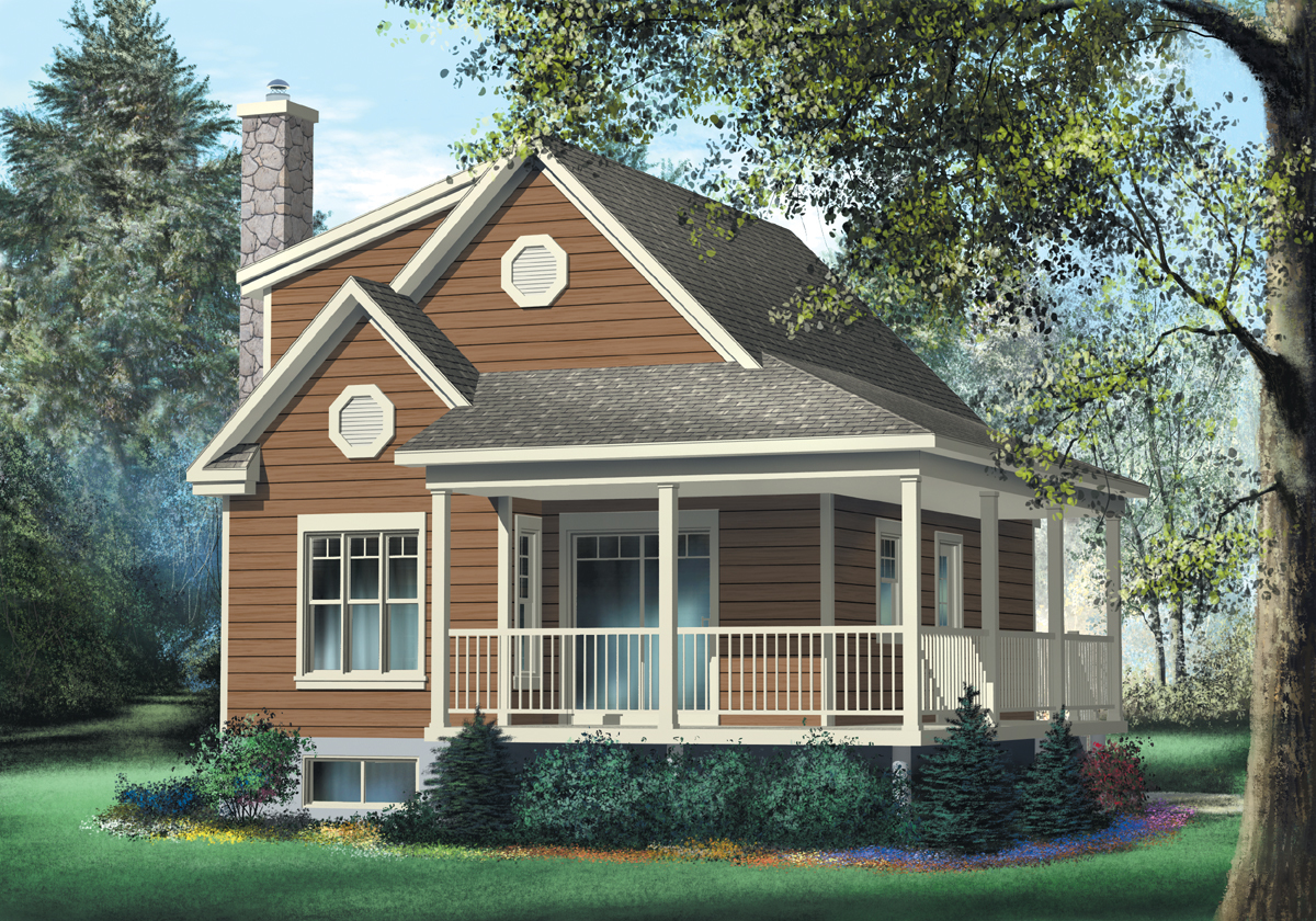 Tiny Home Designs: Cute Vacation Cottage - 80562PM