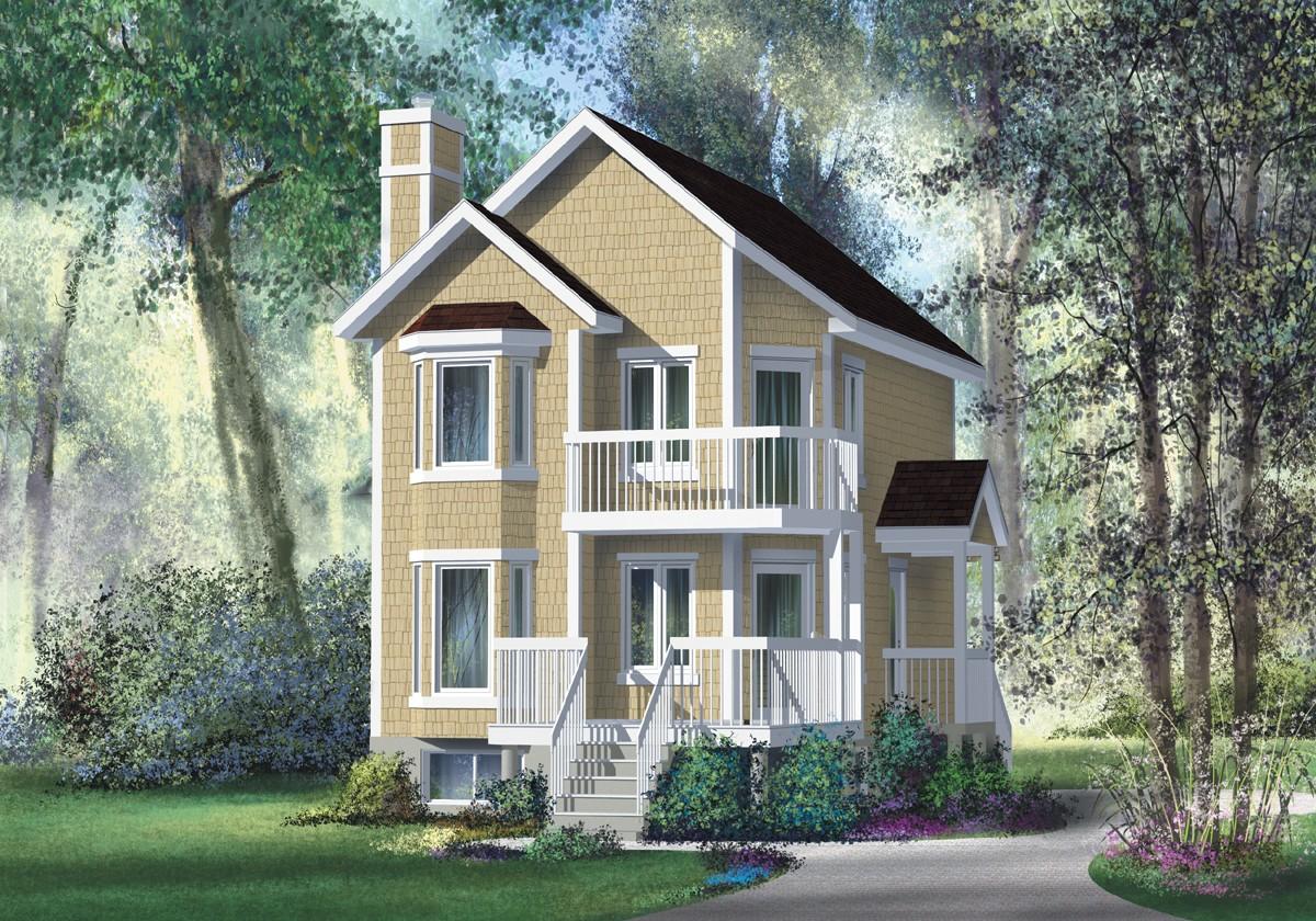 Double decker decks 80567pm architectural designs for Double house plans