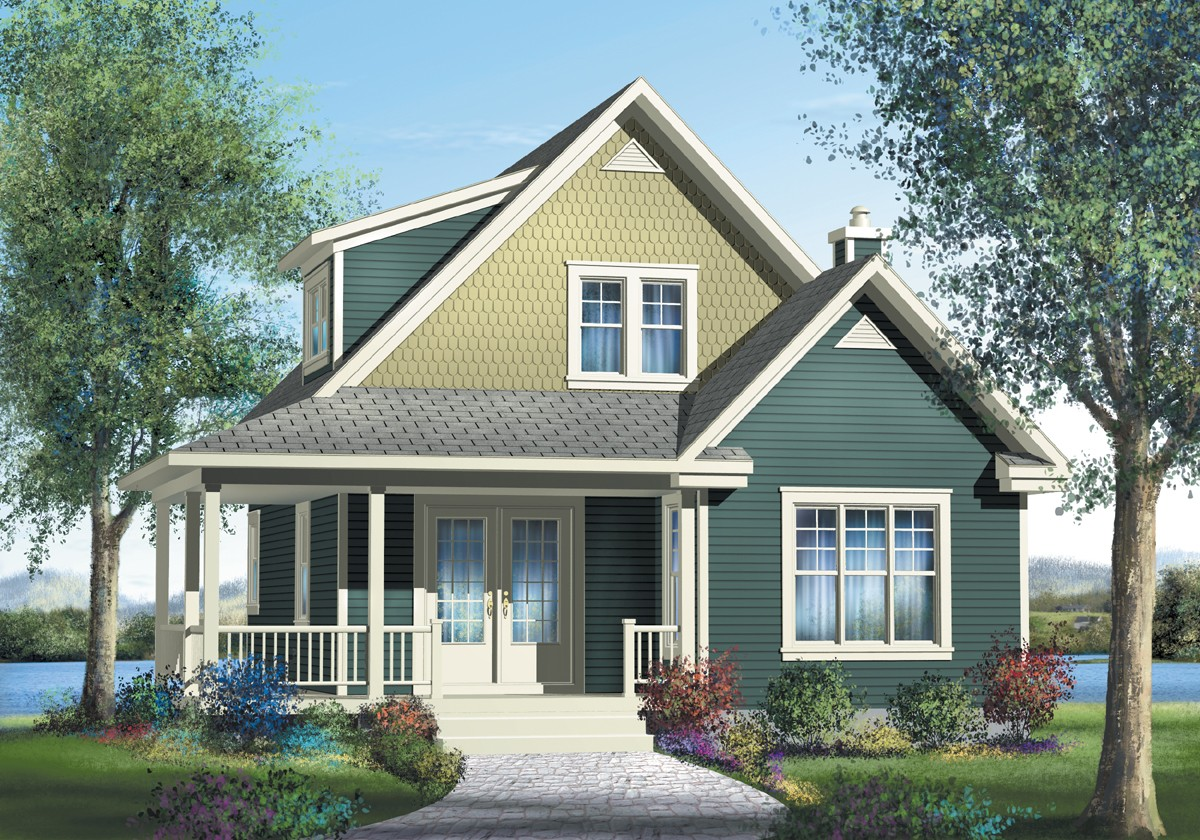 Cozy country cottage 80568pm 2nd floor master suite for Country craftsman