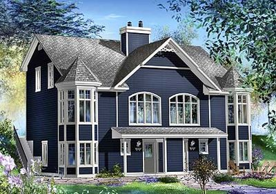 Two Family Home Plan - 80579PM thumb - 01