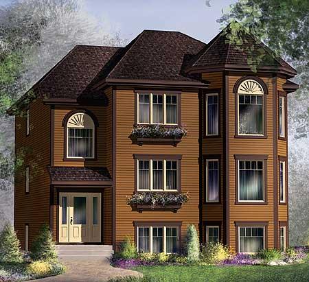 80589pm architectural designs house plans for Multi unit home plans