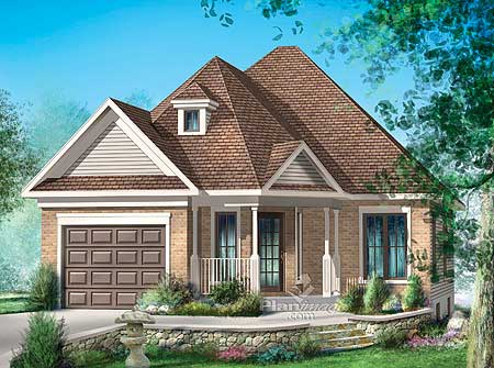 Simple one story home plan 80624pm 1st floor master for Canadian cottage house plans