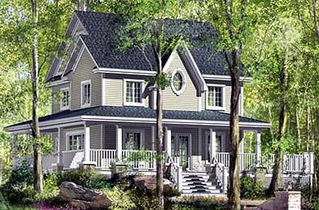 Grand Wrap Around Porch 80636pm Architectural Designs
