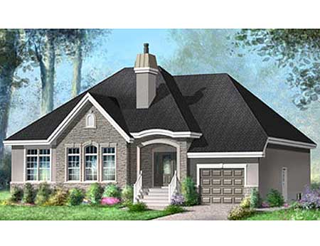 Elegant one story home plan 80649pm 1st floor master One story european house plans