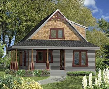 Rustic cottage with wrap around porch 80678pm for Rustic house plans with wrap around porch