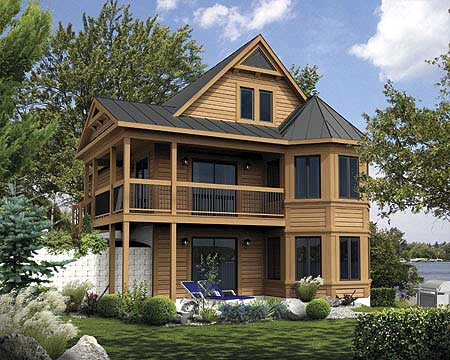 Vacation cabin with reading loft 80680pm 1st floor for Mountain vacation home plans