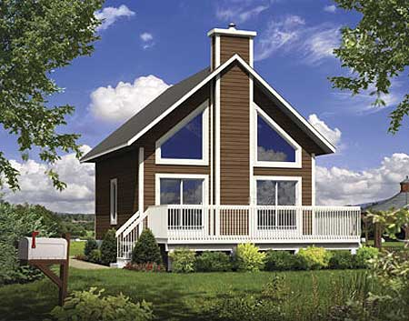 Beach or mountain getaway cottage 80684pm 1st floor for Beach cabin designs