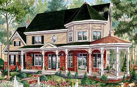 Victorian Home Plan With Sunroom 80694pm Architectural