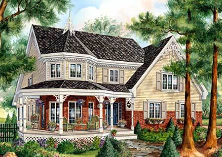 Country home plan with sunroom 80699pm architectural for House plans with sunrooms