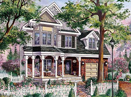 Narrow Lot Country Victorian Home 80701pm