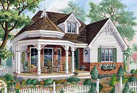 One Level Victorian Home Plan - 80703PM | Architectural ...