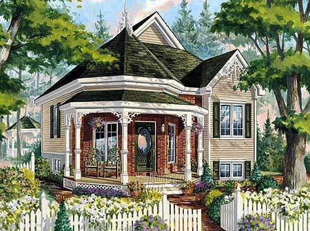 Victorian cottage home plan 80707pm architectural designs house plans - Large victorian house plans ...