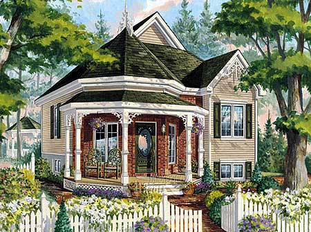 Victorian Cottage Home Plan   PM   st Floor Master Suite    Plan PM