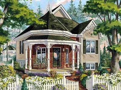 Victorian Cottage Home Plan - 80707PM thumb - 01