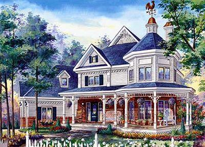 Elegant Victorian Home Plan 80713PM 2nd Floor Master