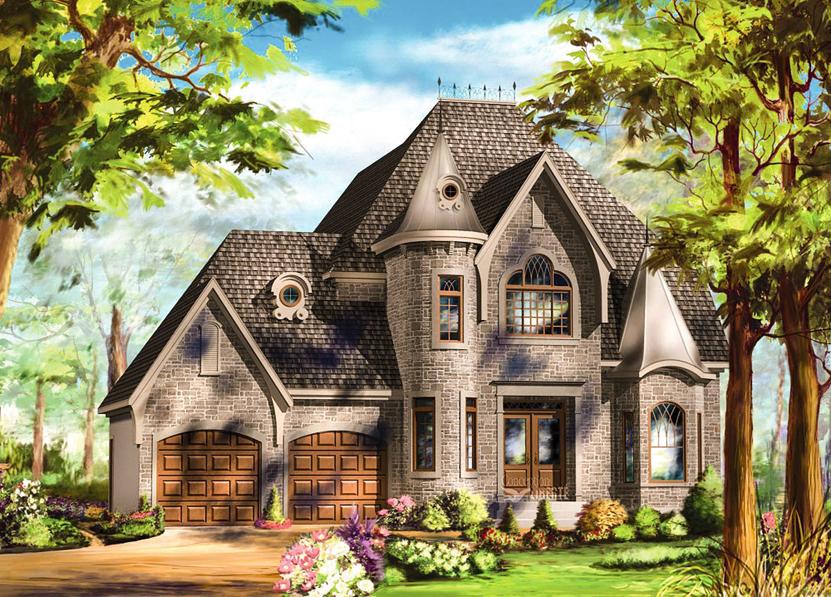 Stylish european home plan 80716pm architectural for Europeanhome com
