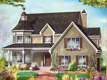 Country Home Plan With Sunroom 80717pm Architectural