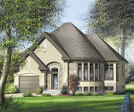 Split level european home plan 80719pm 1st floor for European home designs llc