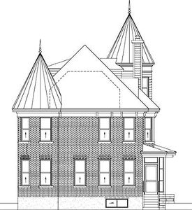 Glorious turret 80723pm architectural designs house for Victorian house plans with turrets