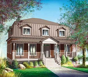 Metal Hip Roof Country Home Plan   80726PM Thumb   01