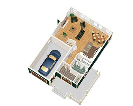 Two story craftsman cottage 80730pm 2nd floor master for 2 story house plans 3d