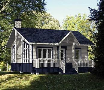 Cottage getaway 80734pm 1st floor master suite cad Cottage house plans canada