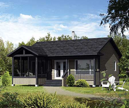 Lakeside or mountain cabin 80737pm architectural for Lakeside cabin plans