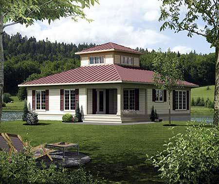 Cupola retreat 80746pm architectural designs house plans for Pictures of houses with cupolas