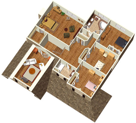 4 Bedroom Farmouse With Stone Facade   80754PM Floor Plan   2nd Floor