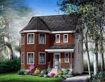 Narrow lot 2 story victorian house plan 80757pm 2nd for Two story victorian house plans