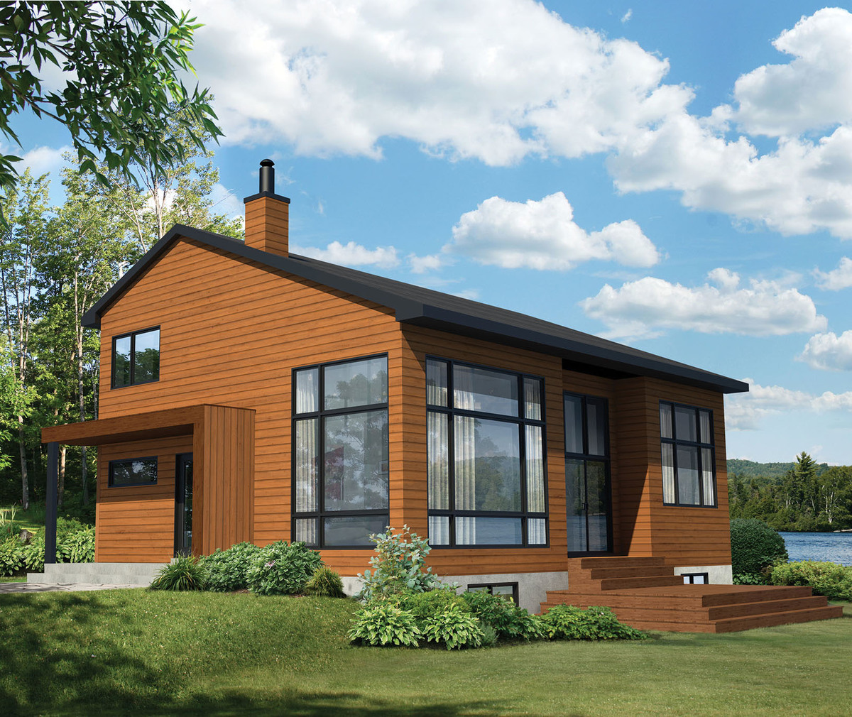 Vacation retreat 80772pm architectural designs house - Large summer houses energizing retreat ...