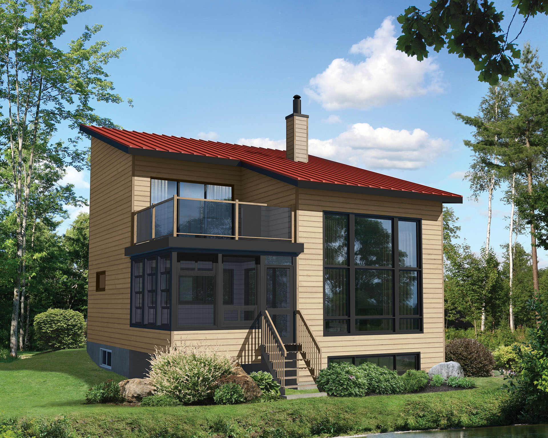 Contemporary Plan with Second Floor Deck - 80773PM | 1st ...