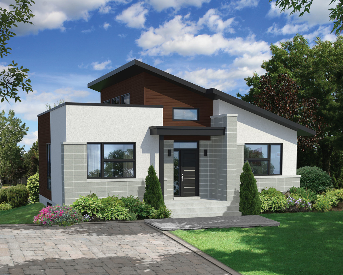 Bold and compact modern house plan 80775pm for 5 bedroom house designs uk