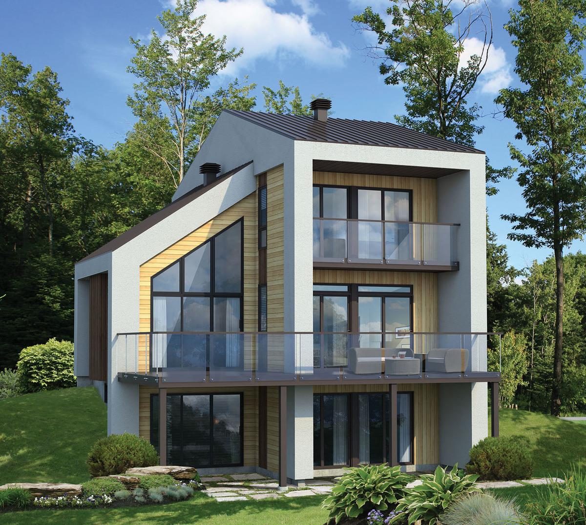 Narrow lot contemporary house plan 80777pm for Narrow lot modern modular homes