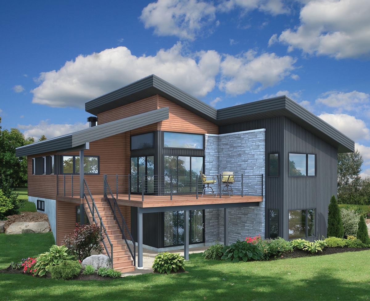 Tiny Home Designs: Contemporary Vacation Getaway - 80778PM