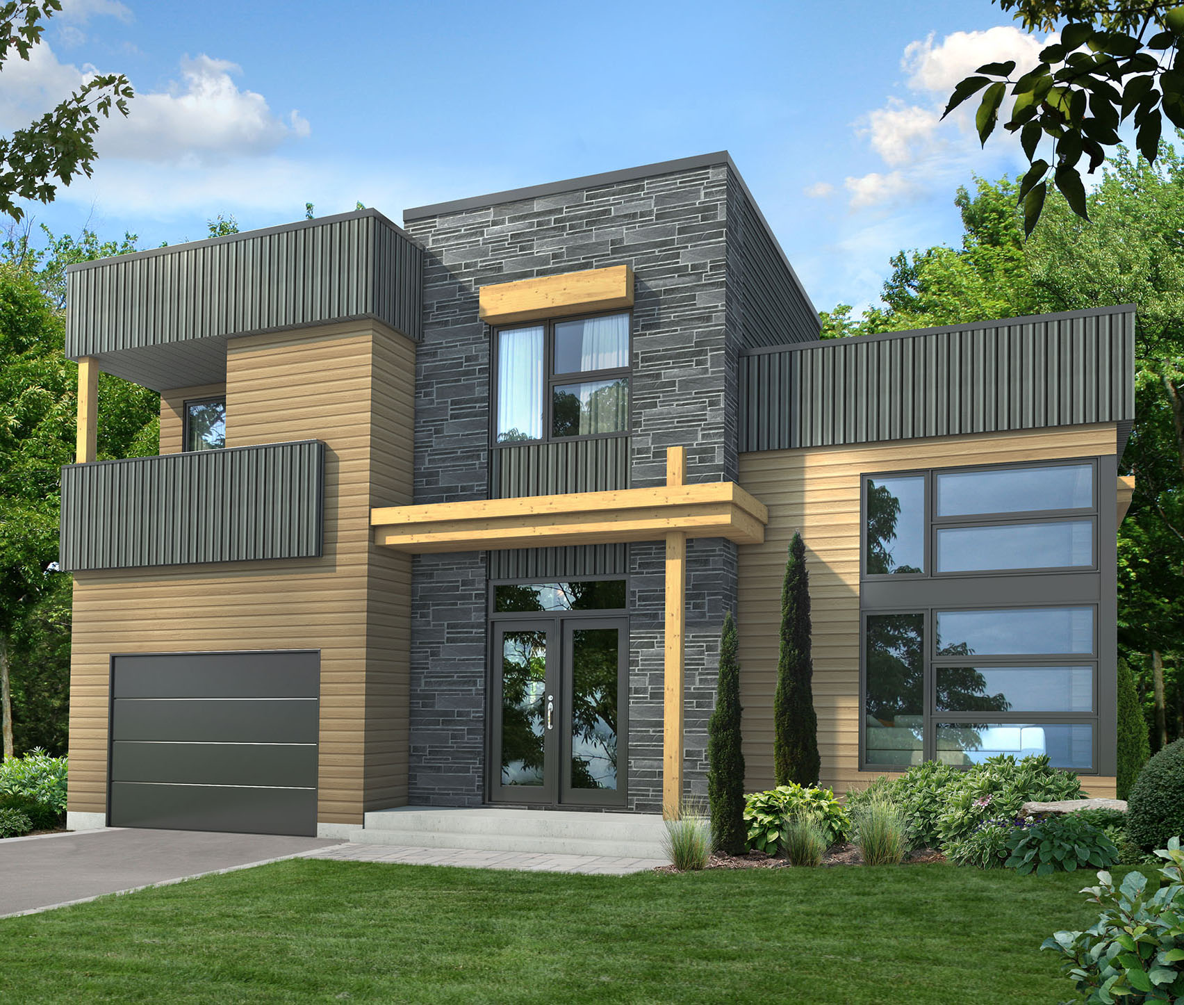 Dynamic contemporary house plan 80782pm architectural for Dynamic house