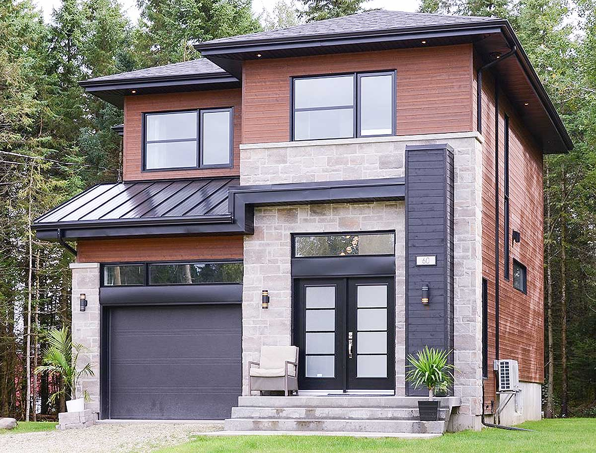 Compact Two-Story Contemporary House Plan - 80784PM ...