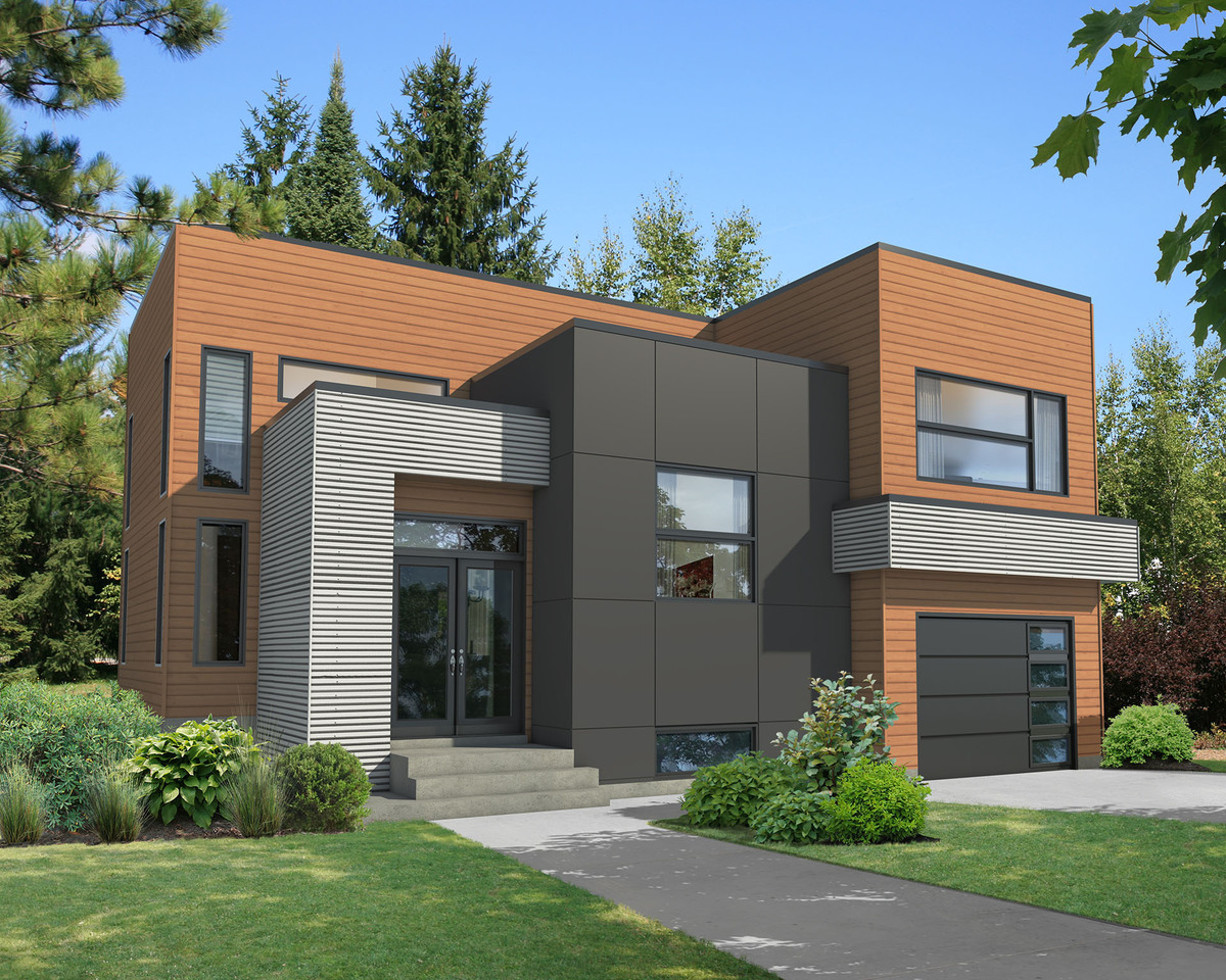 Exciting Modern House Plan - 80787PM