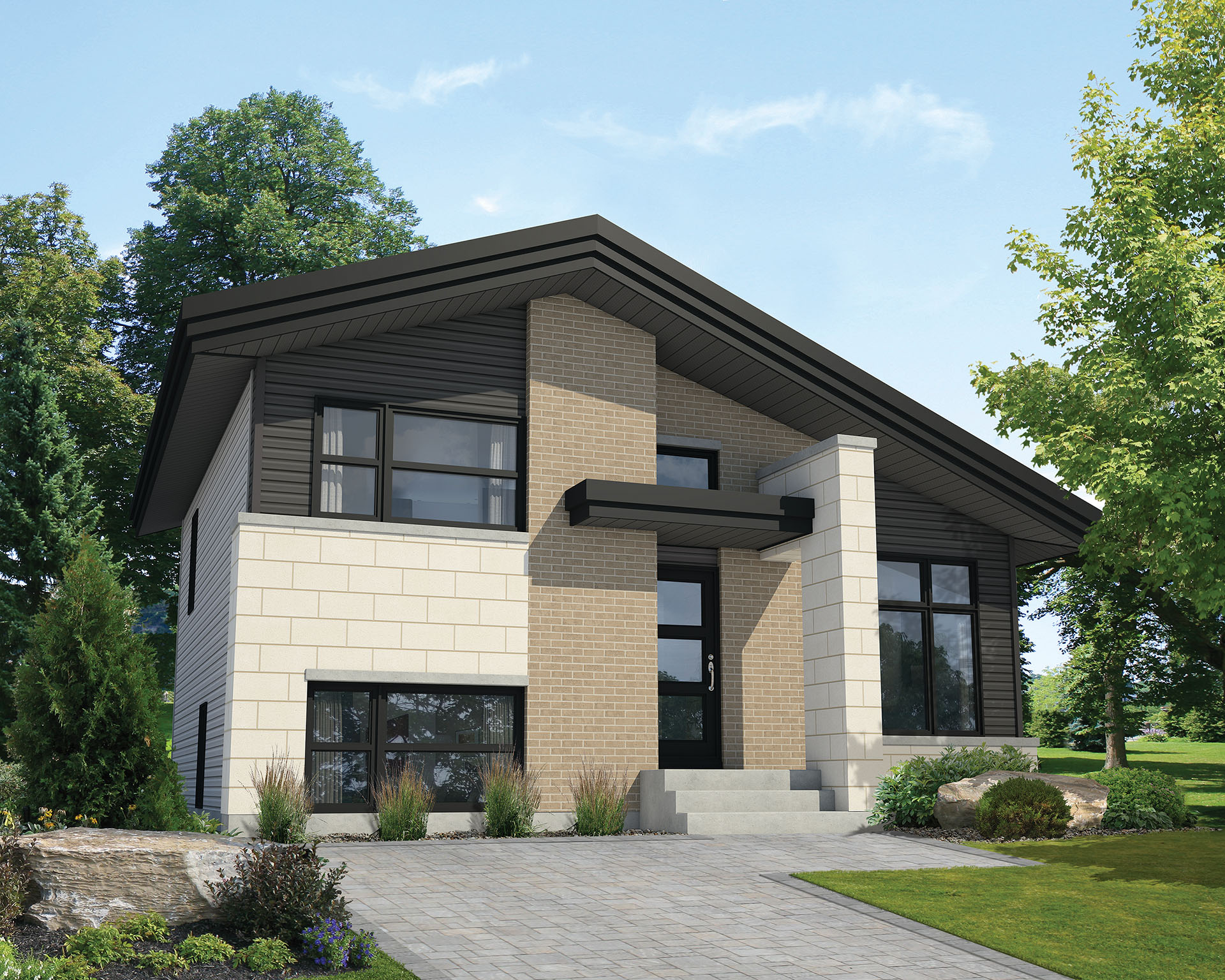 Multi level contemporary house plan 80797pm 2nd floor for Multi level house plans
