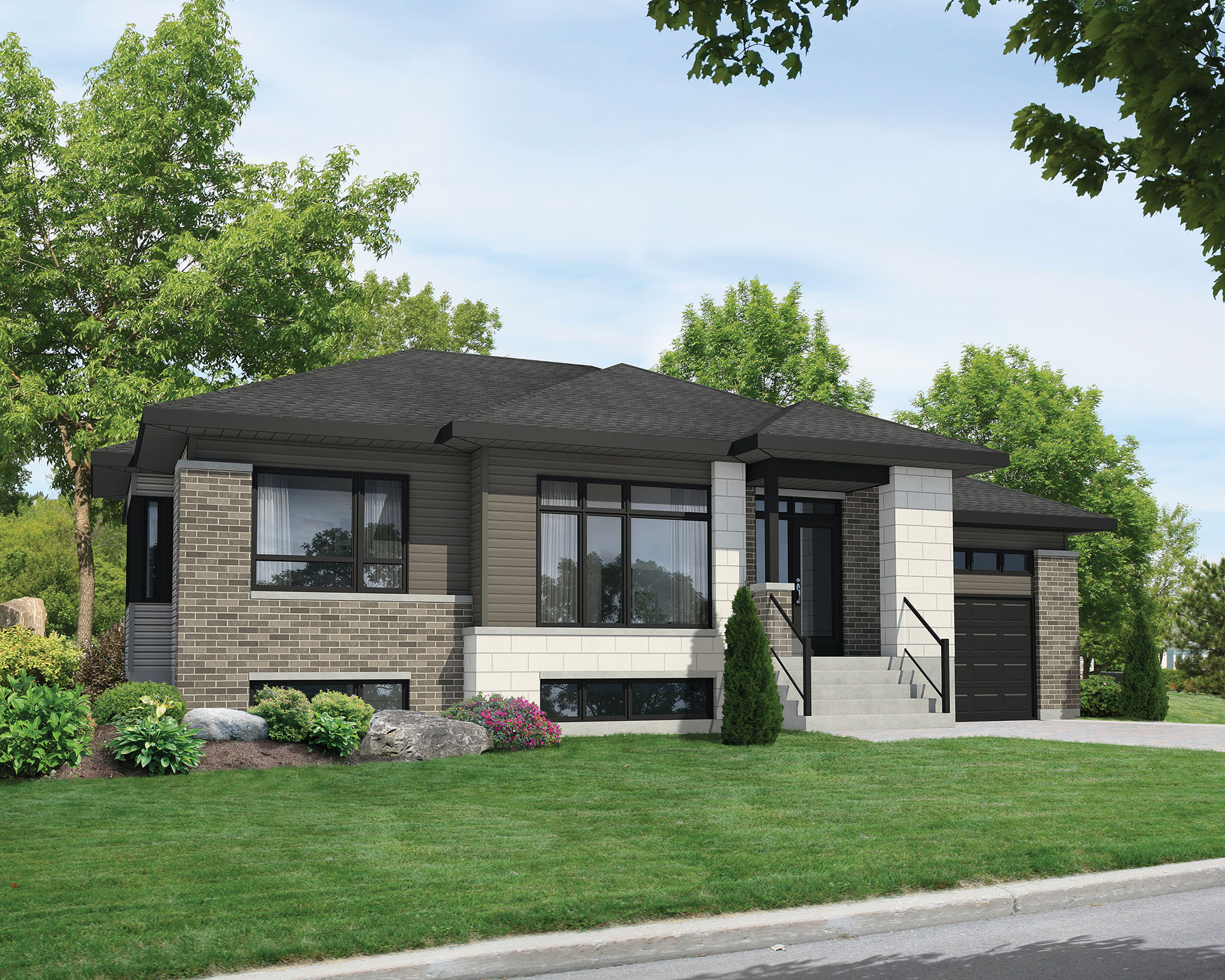 Contemporary Split Level House Plan